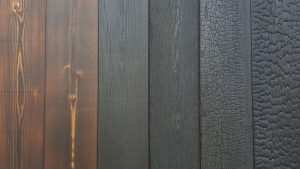 Charred-Burnt-Scorched-Cladding charring burning finishes to choose from