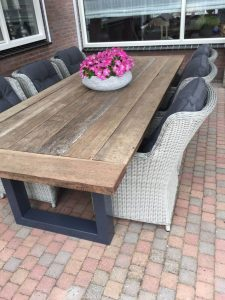 Reclaimed table top hardwood timber old look