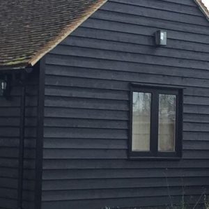 Black Painted Timber Cladding