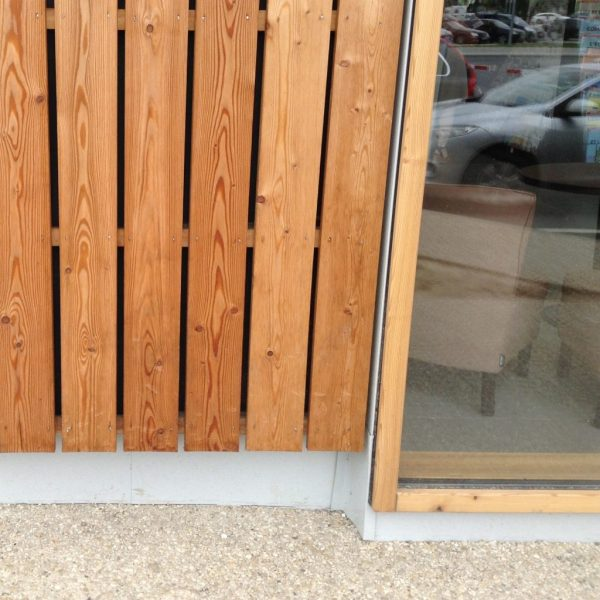 Open Gap Square Edge Siberian Larch Fencing and Cladding