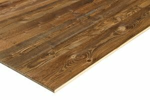 Brown 3 layer panel for internal fit out reclaimed old look timber