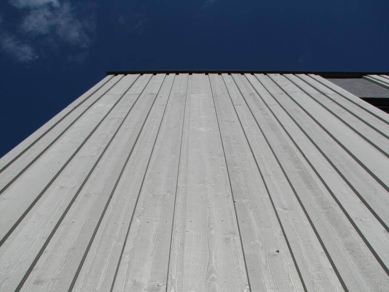 Grey External Painted Exterior Wood Cladding