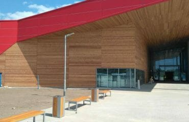 fire retardant treated siberian larch cladding