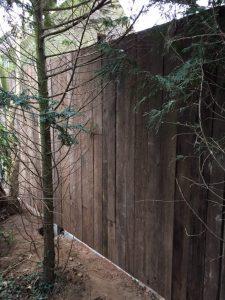 Reclaimed hardwood fence Azobe Ekki