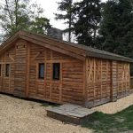 Holiday home grown off log sawn larch cladding