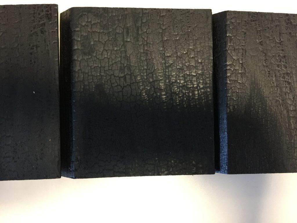 Charred black burnt timber shou sugi ban free samples Timber Cladding