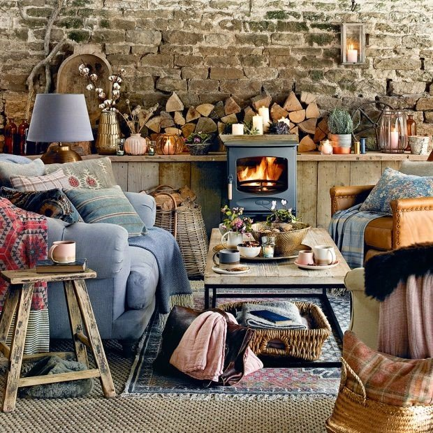 Rustic Shabby Chic Wood Interior