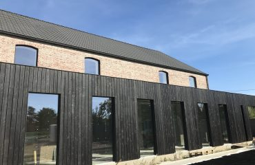 Burnt Charred Siberian Larch Cladding Oiled and Brushed Rubio Sealed Exterior Cladding