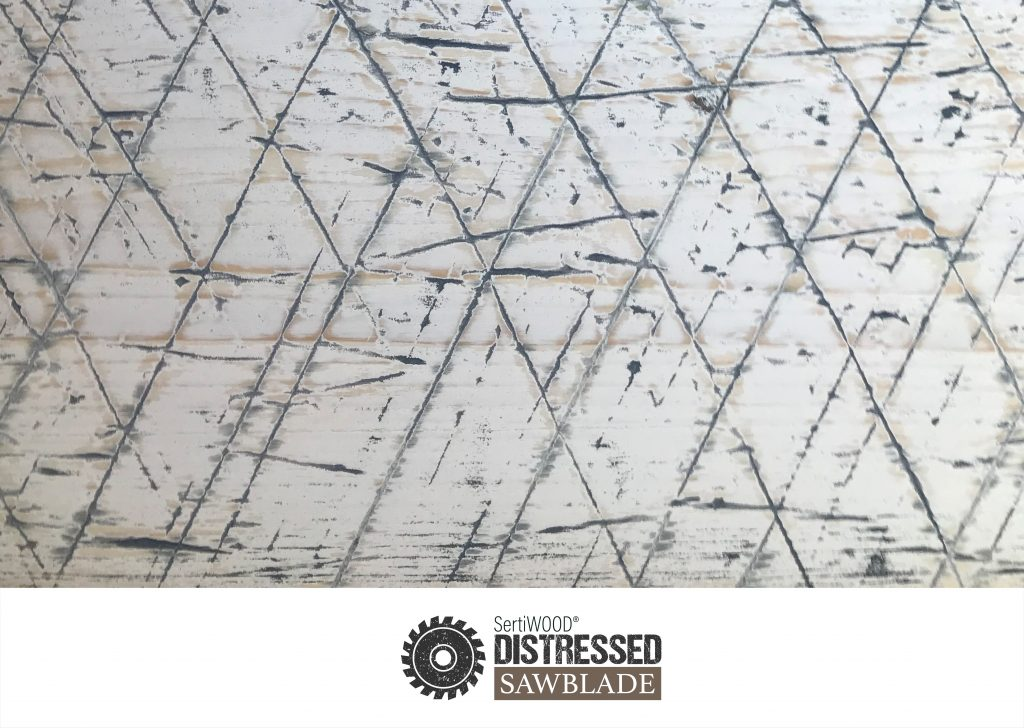 Distressed wood for cladding, flooring and decking SetiWOOD Distressed Sawblade