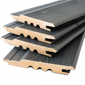 Premium Timber Cladding SertiWOOD® Viking Anthracite Grey Secret Fix