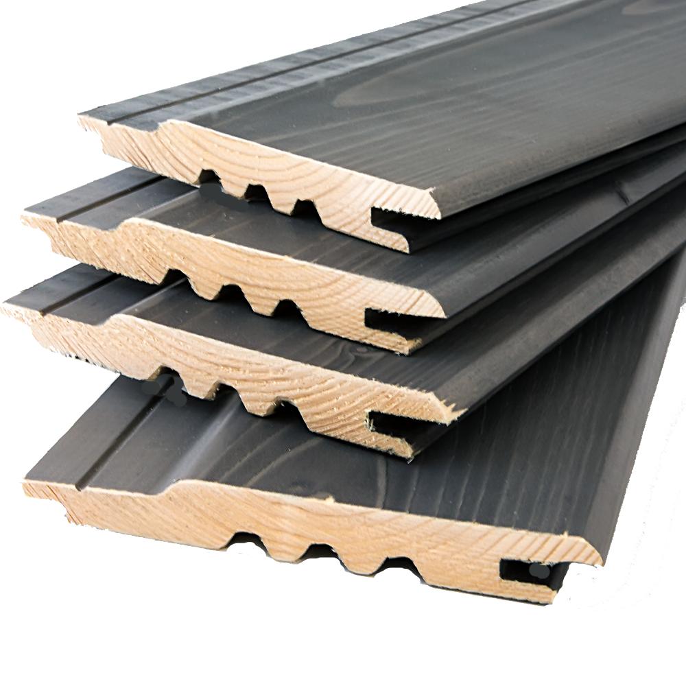 Premium Timber Cladding SertiWOOD® Viking Anthracite Grey Secret Fix